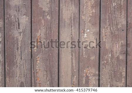 weathered wooden fence ; vintage / grunge background  - stock photo