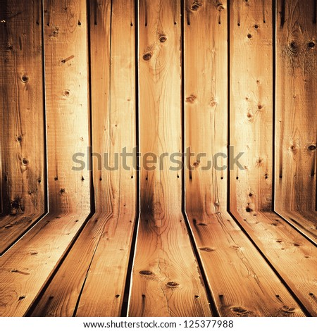 weathered wooden siding wall and floor  ; abstract grunge background