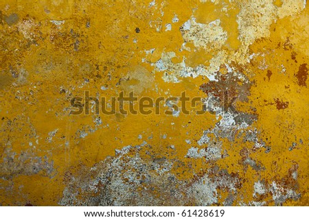 Weathered Yellow Wall Texture