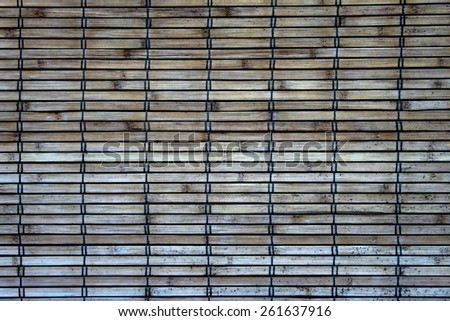 Weathers bamboo wall cover - stock photo