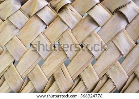 Weave coconut leaves background - stock photo