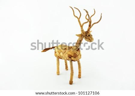 weave deer handmade - stock photo