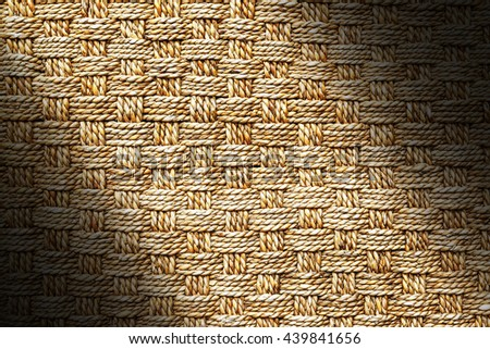 Weave pattern of water hyacinth texture - stock photo