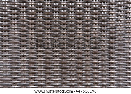 Weave plastic wicker rattan pattern seamless background texture. - stock photo