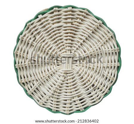 Weave rattan pattern  - stock photo