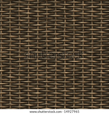 weaved basket, seamless texture - stock photo