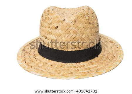 Weaves hat, Handmade Straw Hat Isolated on white background