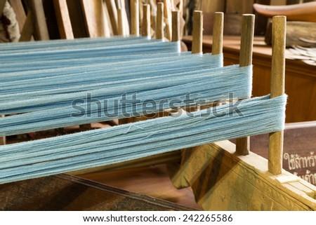 Weaving loom - stock photo