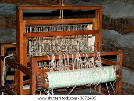 Weaving loom, circa 1900 at Log Cabin Village in Fort Worth, Texas.