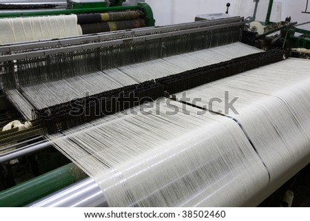 WEAVING MACHINE  - stock photo
