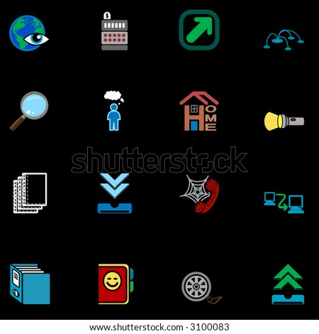 Web and Computing Icons Series Set A series of web icons set.Raster version - stock photo
