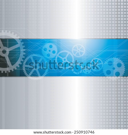 Web and mobile interface graphic template. Corporate website design. Media background. Industry and technology concept - stock photo