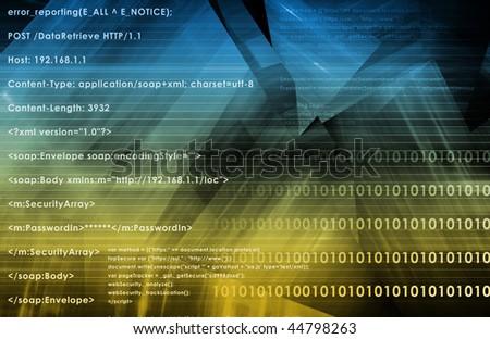 Web Application Logic on Internet as Background - stock photo