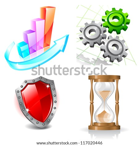 Web business icons. Raster version. Vector is also available in my gallery - stock photo