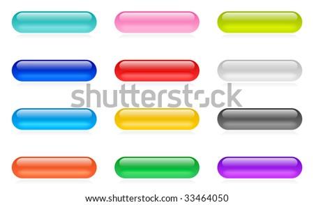 Web button set - stock photo