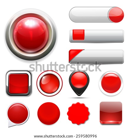 web buttons for website or app - stock photo