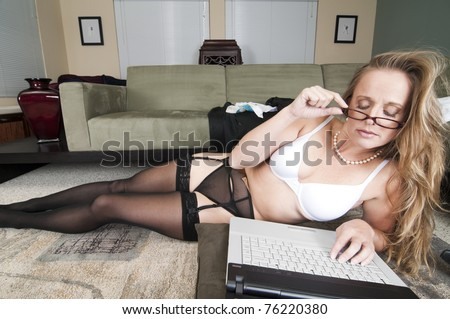 Web Cam Striptease #24 - stock photo