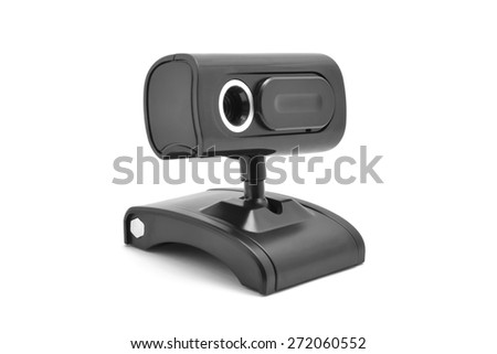 web cam wireless isolated on white - stock photo