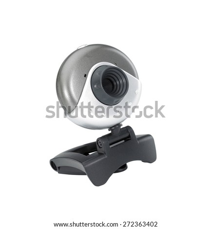 Web camera close-up isolated on a white background