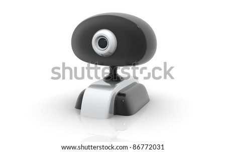 Web camera isolated on a white background - stock photo
