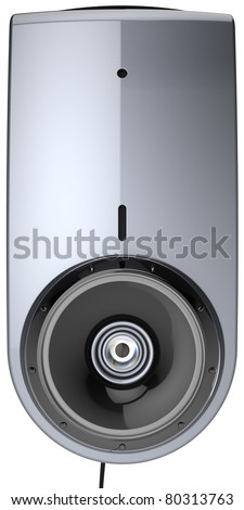 Web camera video call communication contemporary computer multimedia equipment front view close-up. Internet network meeting chat. This is a detailed render 3d image. Isolated on white background - stock photo