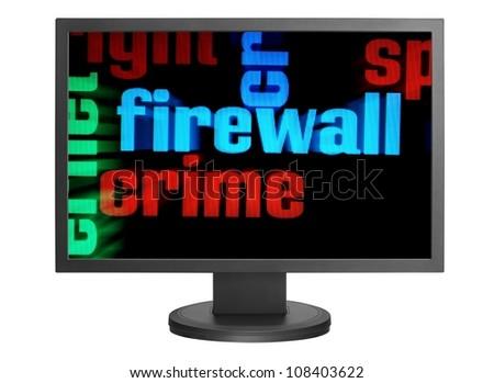 Web crime concept - stock photo