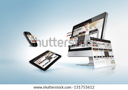 Web design concept - stock photo