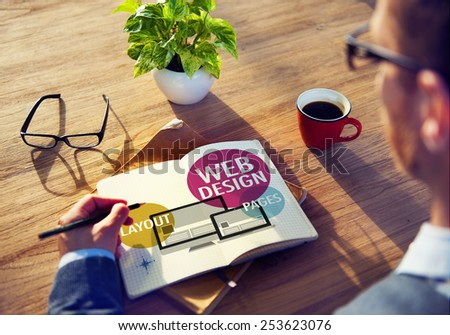 Web Design Content Creative Website Responsive Concept - stock photo