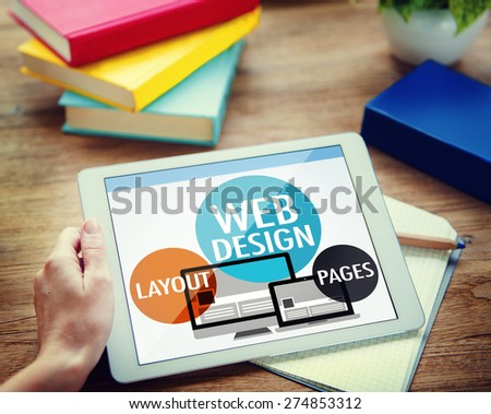 Web Design Content Creative Website Responsive Concept - stock photo