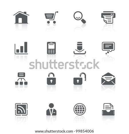 web design icons - stock photo