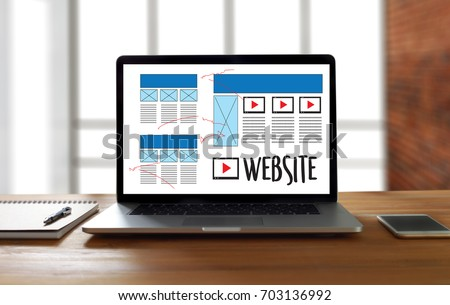 Web Design Layout Sketch Drawing Software Stock Photo (Edit Now ...