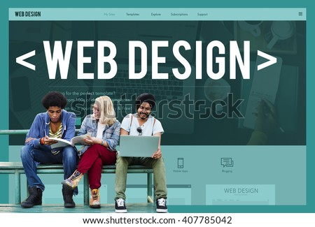 Web Design Website Homepage Layout Programming Concept - stock photo