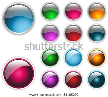 web elements shiny vector button