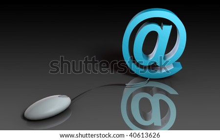Web Email Using Internet and Mouse in 3d