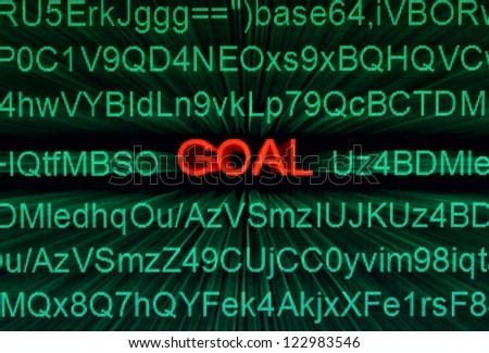 Web goal - stock photo