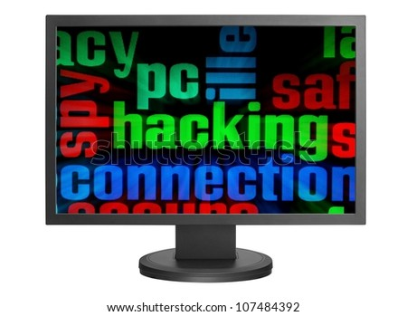Web hacking - stock photo