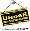 Web Icon - Under Reconstruction Sign - stock photo