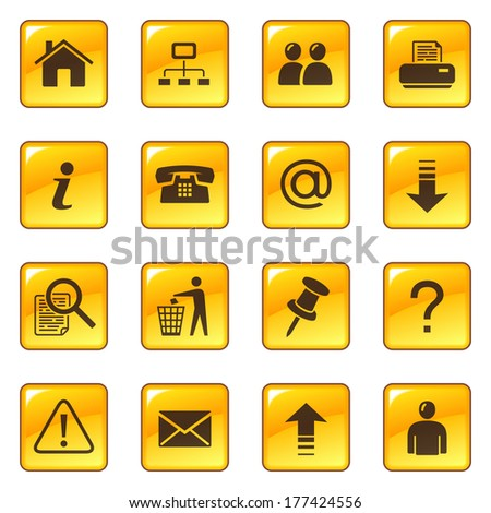Web icons. Raster version - stock photo