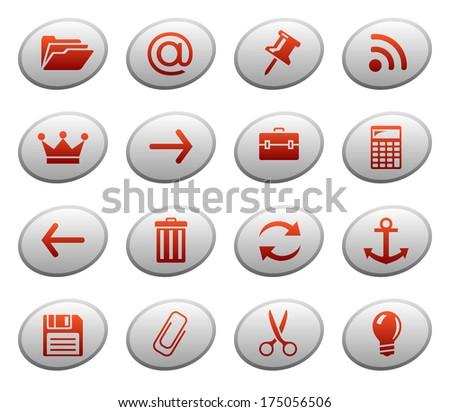 Web icons. Raster version of EPS image 38172898 - stock photo