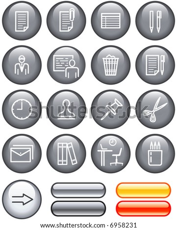 Web Icons Set – Office. (If you need this set in vector format - you'll find it in my portfolio) - stock photo