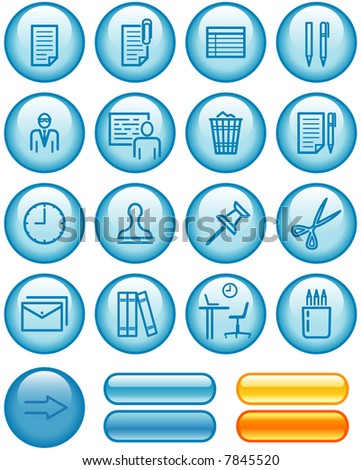 Web Icons Set – Office (If you need this set in vector format - you'll find it in my portfolio) - stock photo