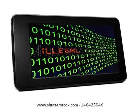 Web illegal activity - stock photo