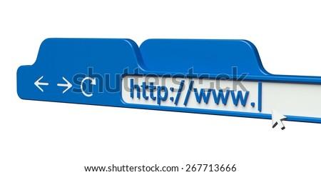 Web Page. 3D. Address Bar - stock photo