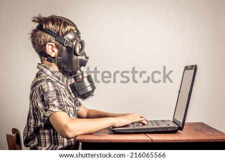 web protection for child - stock photo