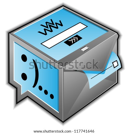 web services box abstract illustration - stock photo