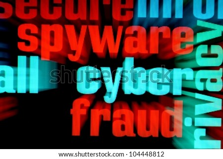 Web spyware - stock photo