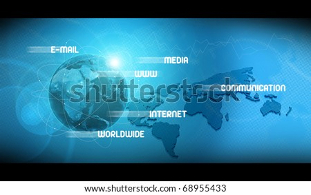web technologies background - stock photo