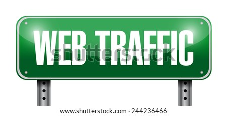 web traffic street sign illustration design over a white background - stock photo