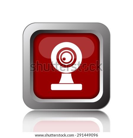 Webcam icon. Internet button on white background  - stock photo