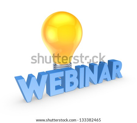 Webinar concept.Isolated on white background.3d rendered.